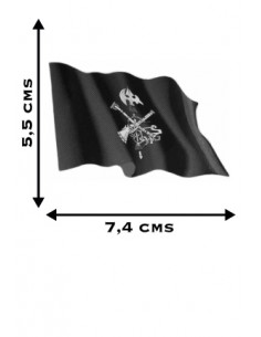 Spanish Legion Waving Flag Sticker