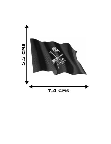 Pegatina Bandera Legión Ondeante