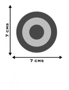 Pegatina Escarapela Plana 7 cm