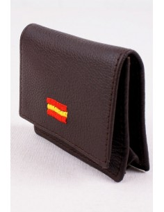 Brown Spain flag purse