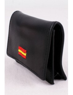 Monedero Bandera España Negro