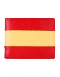 Leather Wallet Spain Flag