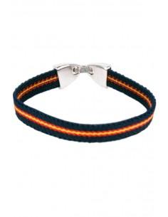 Blue Elastic Bracelet with Spain Flag
