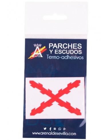 Parche Bordado Cruz Borgoña Mediano