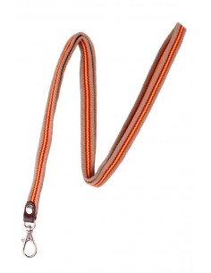 Colorful cords to hang around the neck with the Flag of Spain