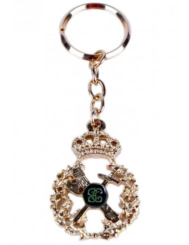 Spanish Civil Guard Golden Key Ring
