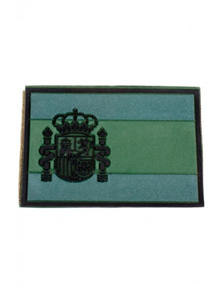 Green Rubber Spain Flag Patch