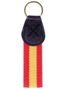 BRIPAC Leather and Canvas Key Ring
