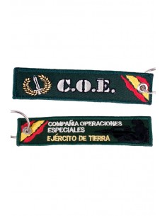 COE Embroidered Canva Key Ring