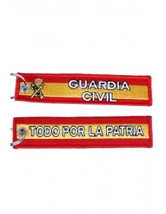 "Fabric Keychain Embroidered on both sides ""Todo por la Patria"""