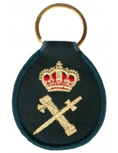 Civil Guard Embroidered Keychain -Spain