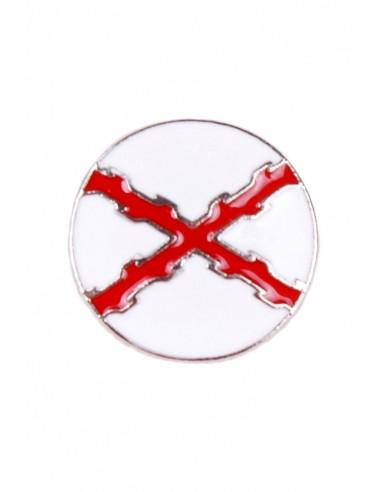 Burgundy Cross Pin