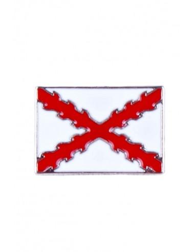 Pin Cruz Borgoña Rectangular