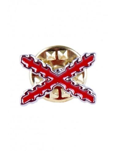 Pin Aspa Cruz Borgoña