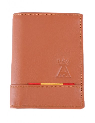 Leather Spain Flag Wallet