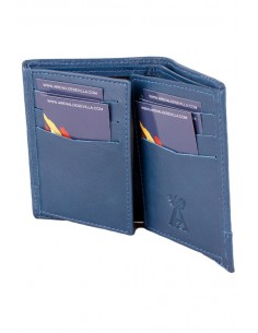 Blue Leather Spain Flag Wallet