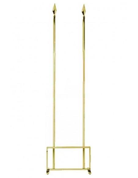 Golden Two Flag Indoor Mast