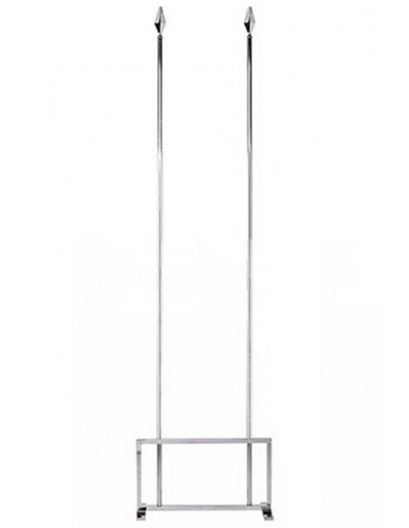 Silver two Flag Indoor Mast