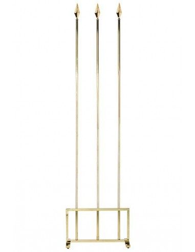 Golden Three Flag Indoor Mast