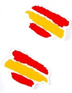 Spain's flag paint sticker