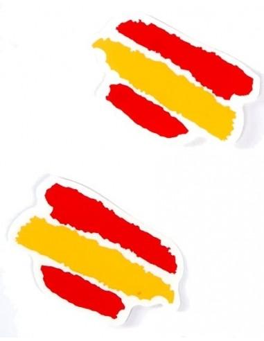 Pegatina bandera España Mediana Manchas x2