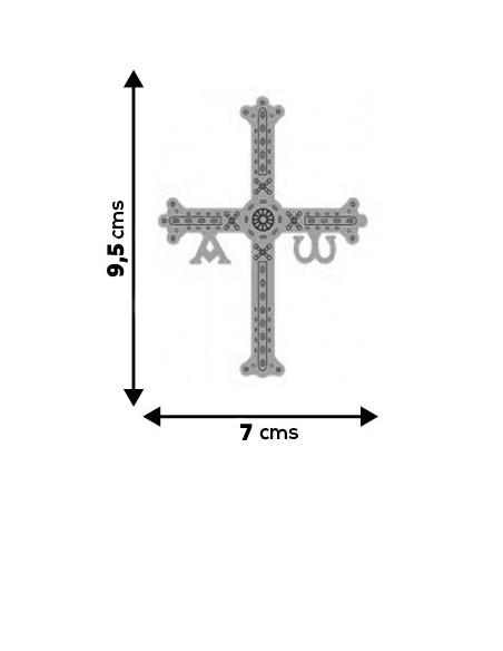 Pegatina de la cruz de Asturias