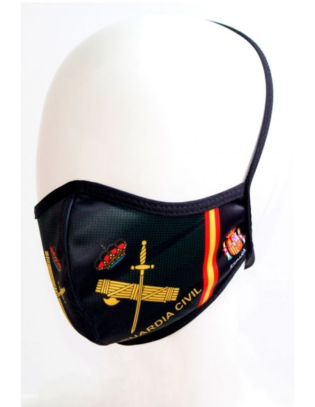 Civil Guard Mask with Spanish Flag