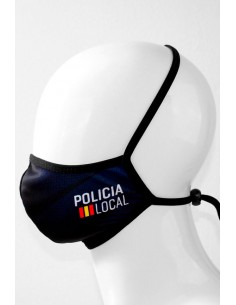 Reusable Mask, Local Police with Flag