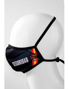 Mascarilla Negra Seguridad Bandera España