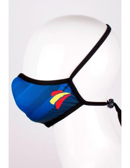 Mascarilla Azul con Bandera España tipo Mancha
