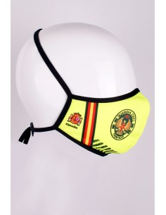 Fluorine mask with the Shield of the Civil Guard of Traffic