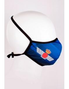 Mascarilla con la Escarapela de Aviación y Roquisqui Bandera España