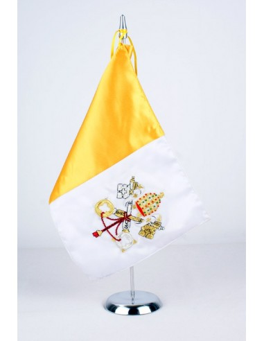 Tabletop pennant of the Vatican flag