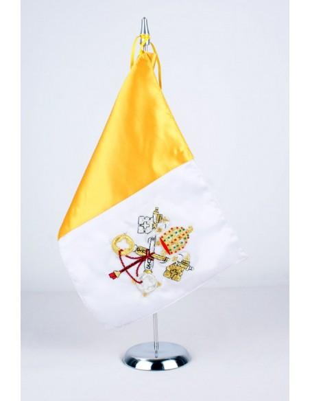Banderín Sobremesa Bandera Vaticano Bordado