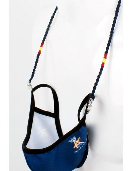 Cordón para Gafas y Mascarillas de Hilo Azul Bandera España