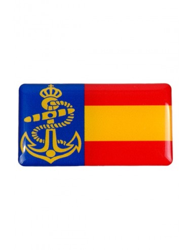 Pegatina Armada bandera España Relieve