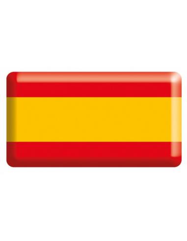 Pegatina Bandera España Sin Escudo Relieve