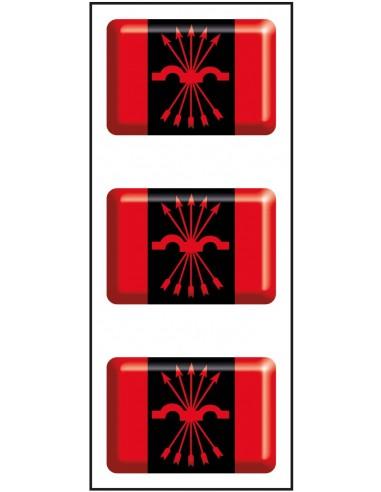 Pegatinas Mini de la Bandera de...