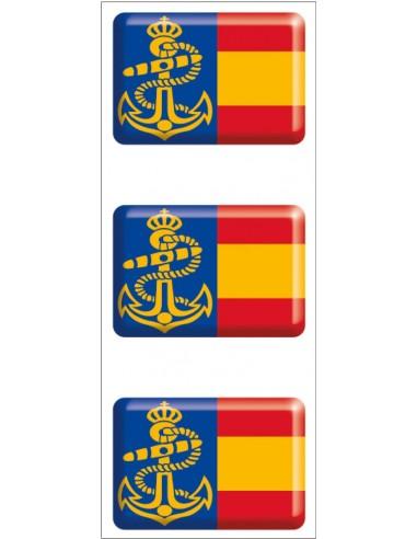 Pegatina Armada Española Relieve Mini