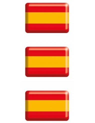 Pegatina Bandera España Relieve Mini