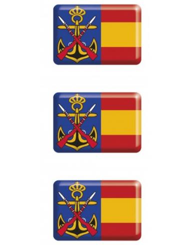 Pegatina Infantería Marina Relieve Mini