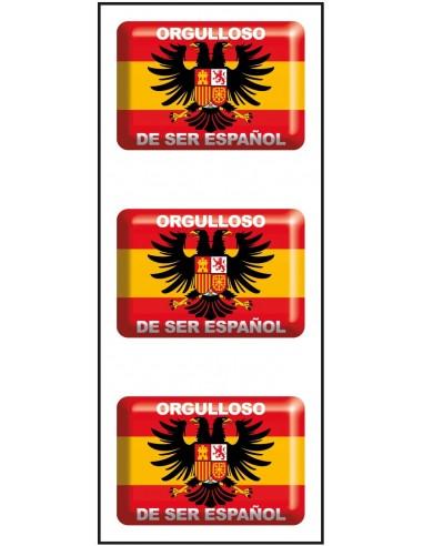 Pegatinas Mini Orgulloso de Ser Español CON LA BANDERA DE ESPAÑA