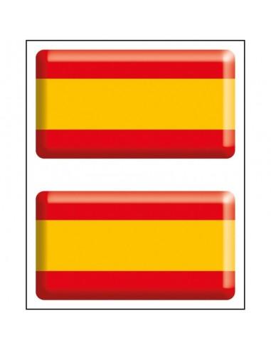 Pack Pegatina Bandera España Relieve...
