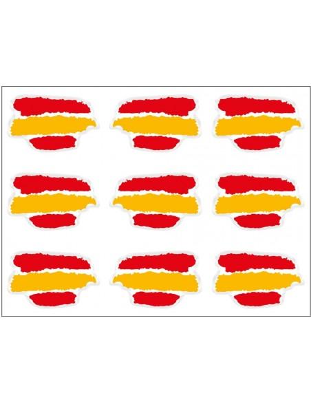 pegatinas relieve tipo manchas bandera España