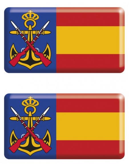 Pegatina Infantería Marina Relieve 2 Unidades