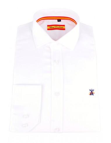 Camisa de Vestir Blanca Bandera España