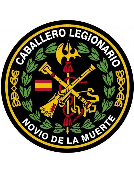Pegatina Redonda de la Legión Española con el Laurel 7x 7 cm