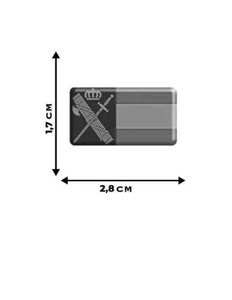 Pegatina Guardia Civil Relieve x2