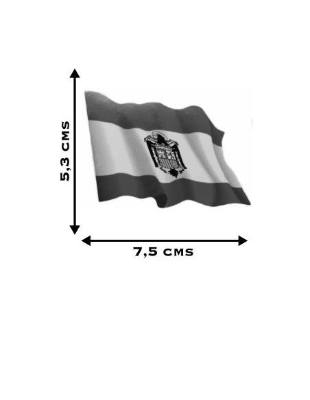 Pegatina Bandera España Águila San Juan Ondeante.