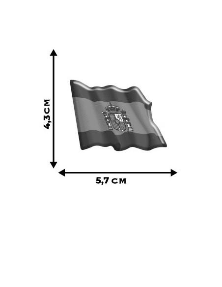 Pegatina Bandera España Actual Ondeante Volumen